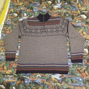 L.L. Bean Lambs Wool Christmas Sweater Medium